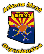 Arizona Mesh Organization Arizona Flag W7AMO Logo.