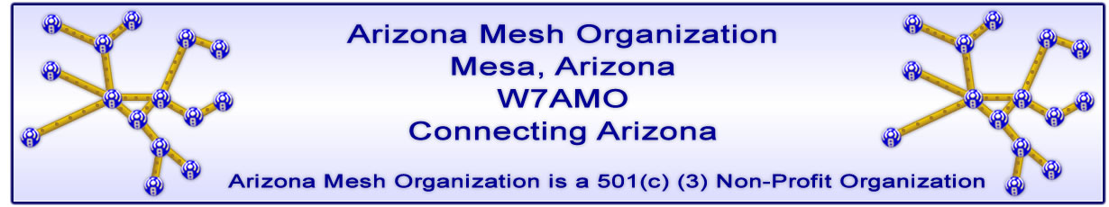 The Arizona Mesh Organization's Logo and banner